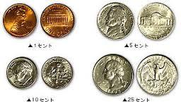 アメリカのコイン
