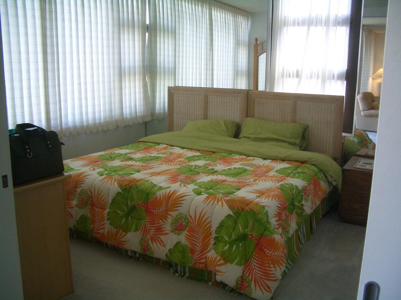 ワイキキバニアンのベッドルーム