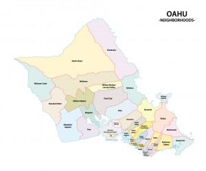 オアフの地図