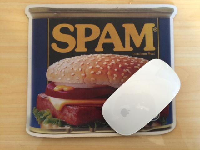 SPAMのマウスパッド