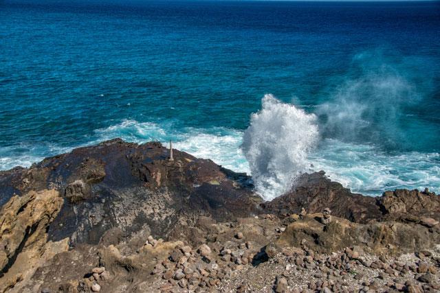 ハロナ潮吹き岩展望台