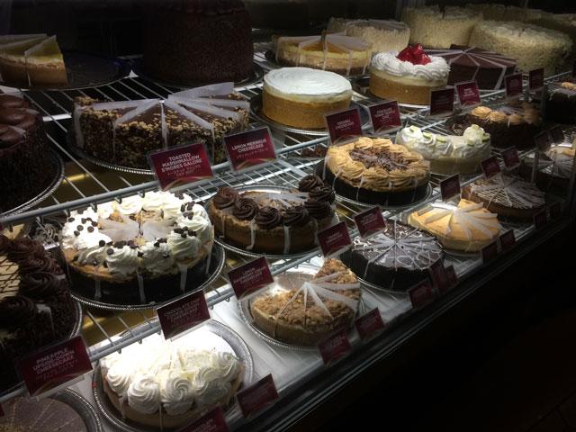 種類豊富なチーズケーキ